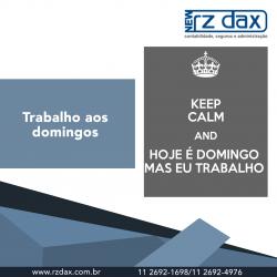 TRABALHO AOS DOMINGOS